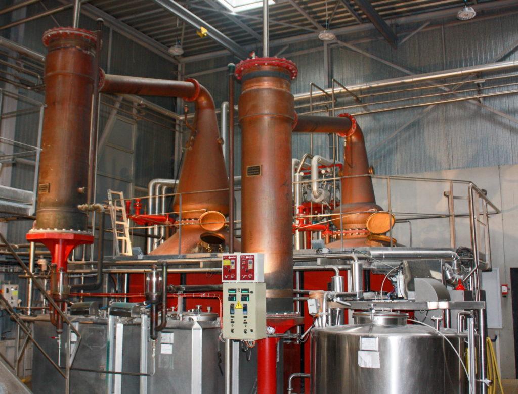 Warenghem Distillery's pair of stills
