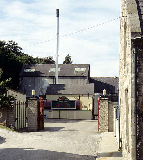 Glen Spey distillery's entrance.