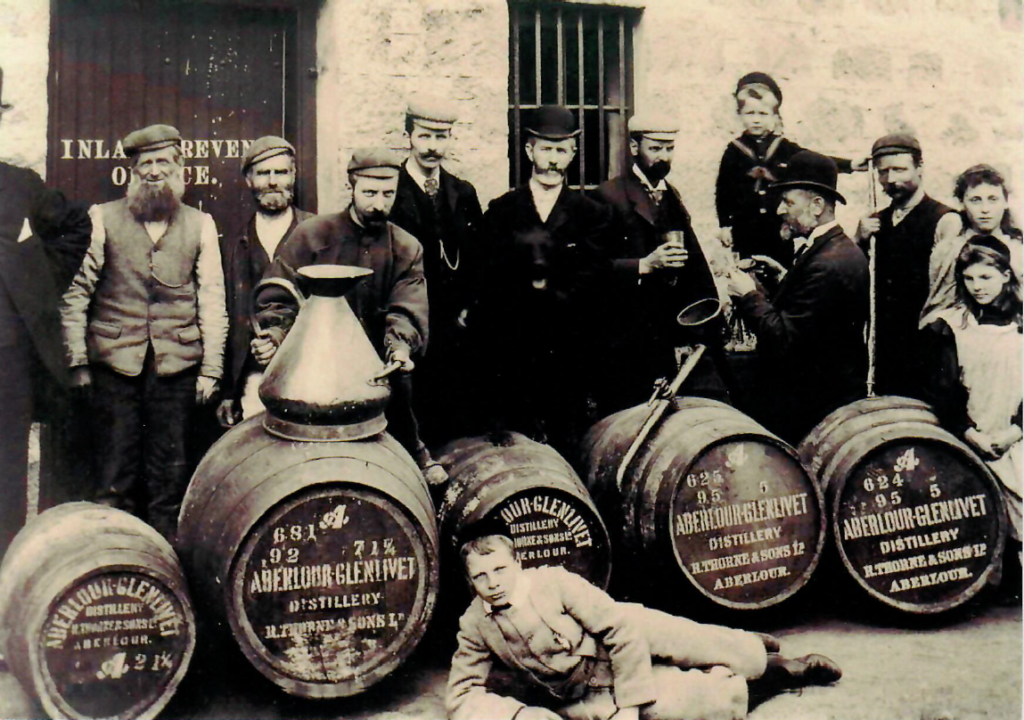 A photo of the Aberlour workforce back in 1910.