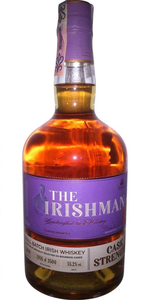 The Irishman Cask Strength 2020, part of the Walsh Whiskey Tweet Tasting 2021