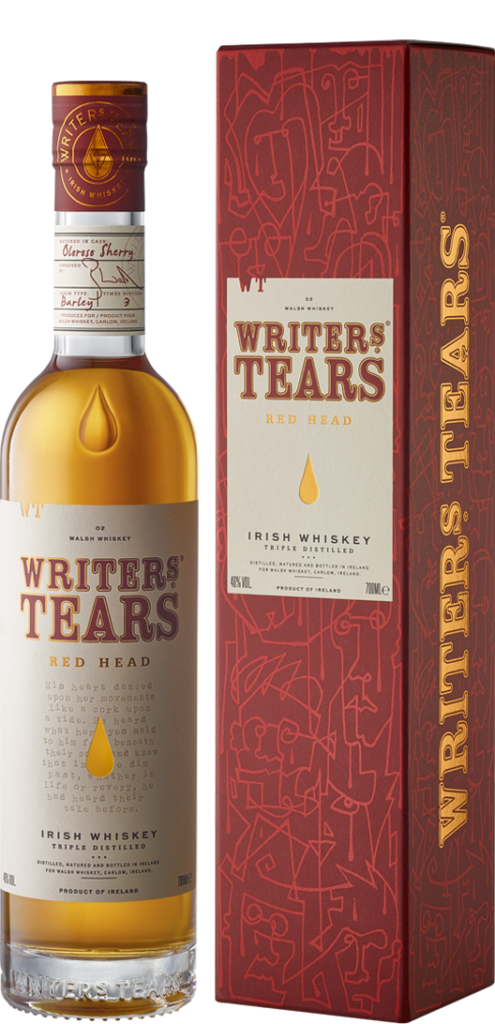Writers' Tears Red Head, part of the Walsh Whiskey Tweet Tasting 2021