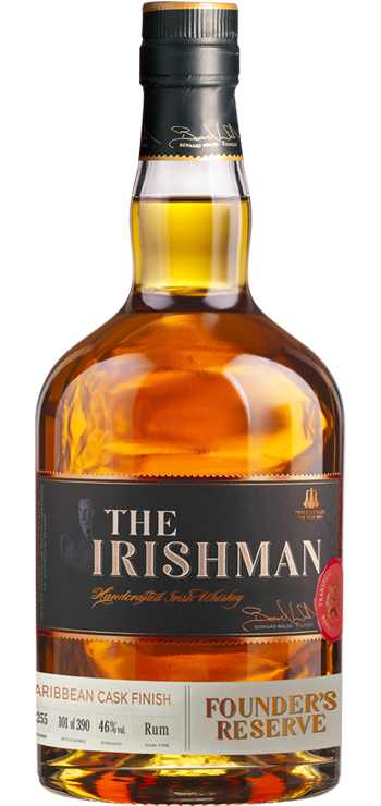 The Irishman Founder's Reserve Caribbean Cask Finish, part of the Walsh Whiskey Tweet Tasting 2021